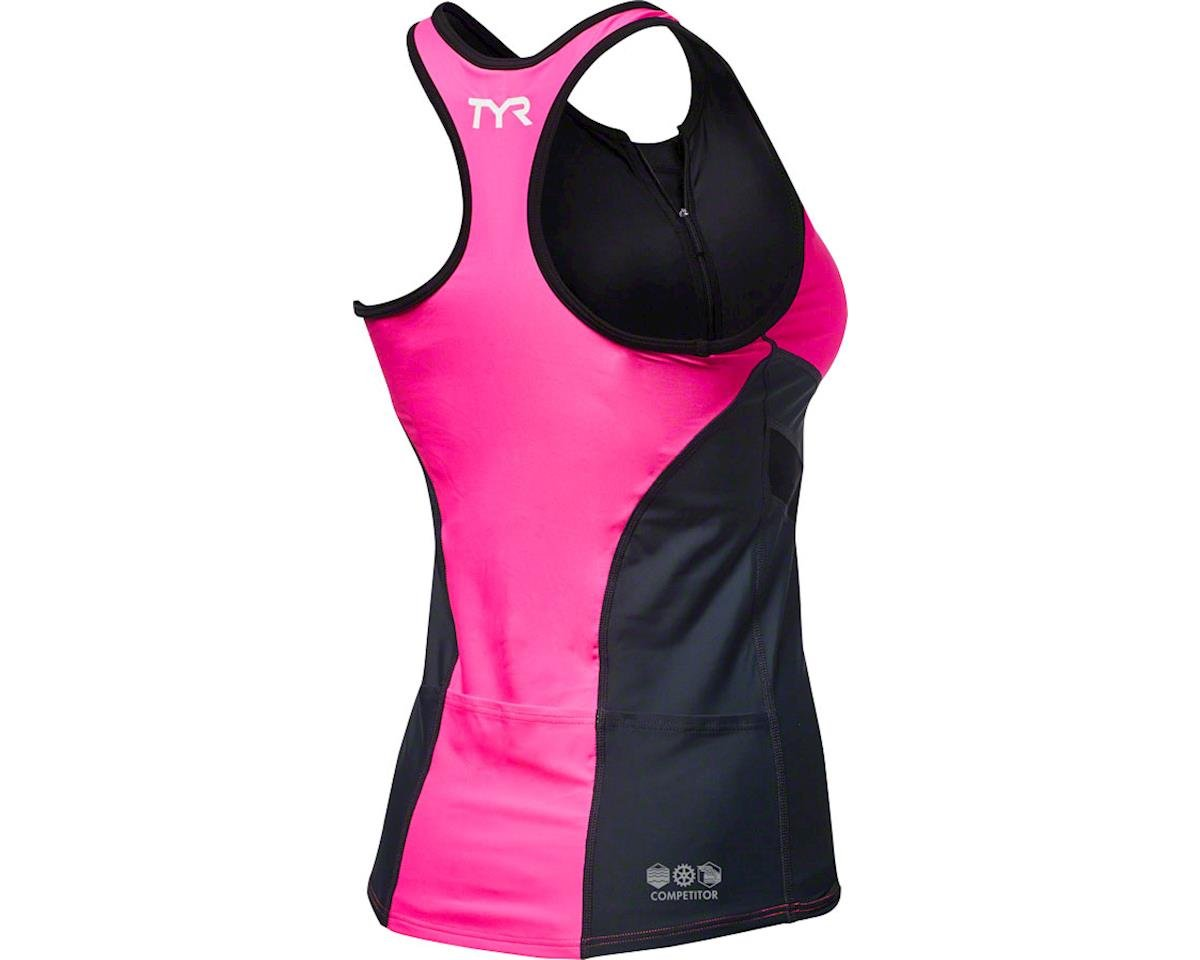 Tyr Competitor Women's Tank: Pink/Gray SM