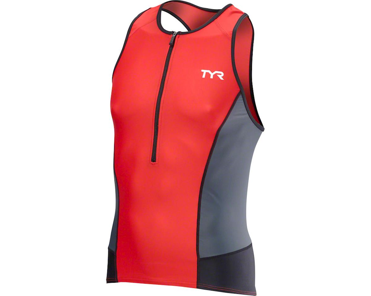 TYR Competitor Men's Tank: Black/Lime XL