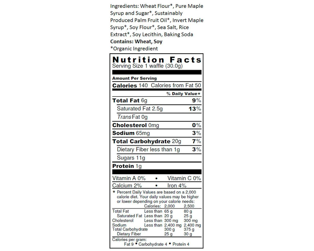 Untapped Organic Waffle (Maple) (16)
