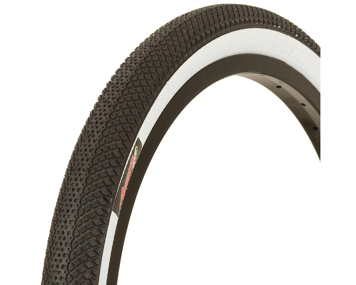 "Vee Rubber Vee Tire Co. Speedster BMX Tire: 20"" x 1.50"" Folding Bead Black Tread White Side"