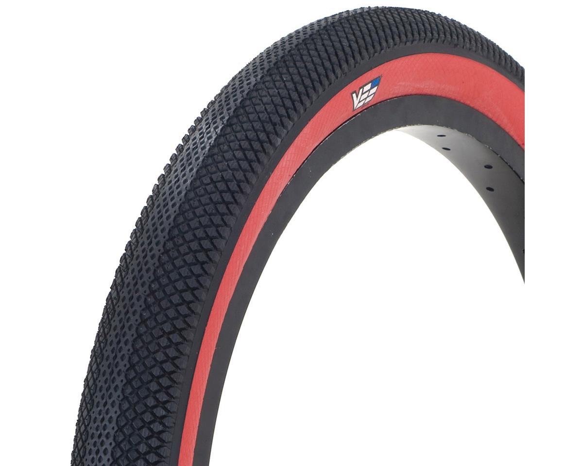 "Vee Tire Co. Speedster BMX Tire: 20"" x 1-3/8"" Folding Bead Black Tread Red Sidew"