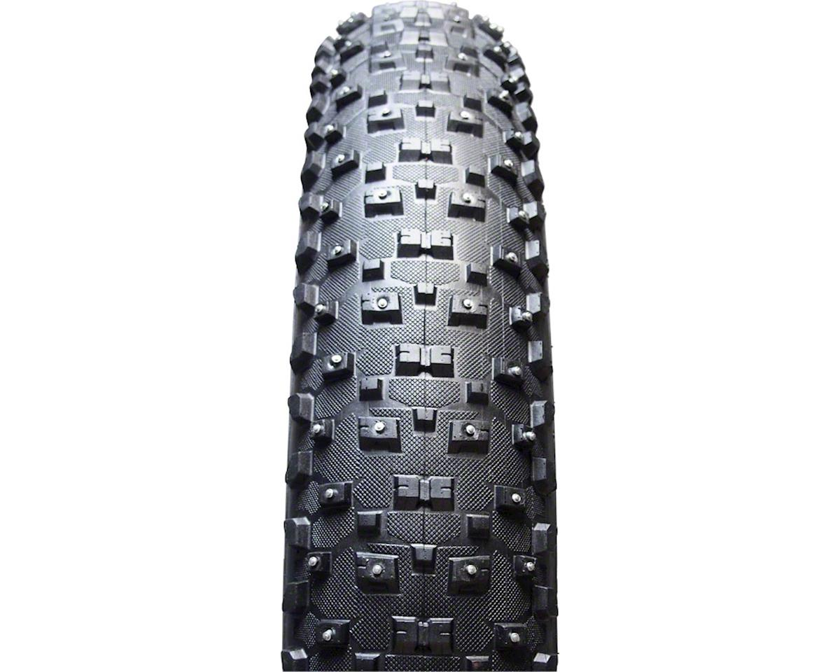 "Vee Rubber Vee Tire Co. Snowshoe XL Studded Fat Bike Tire: 26"" x 4.8"" 120tpi Folding Bead S"