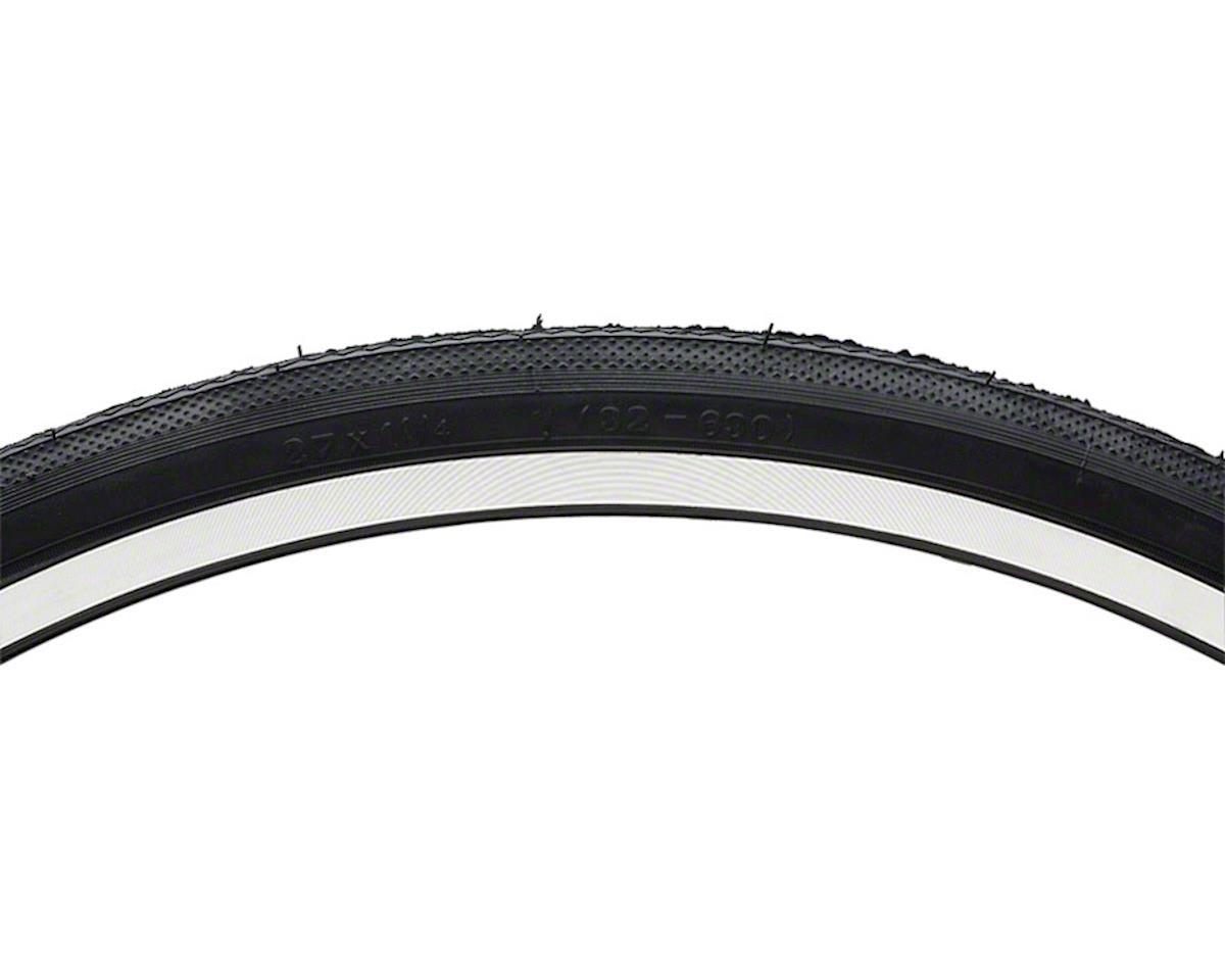 "Semi Smooth Road Tire: 27"" x 1-1/4"" Steel Bead Black"