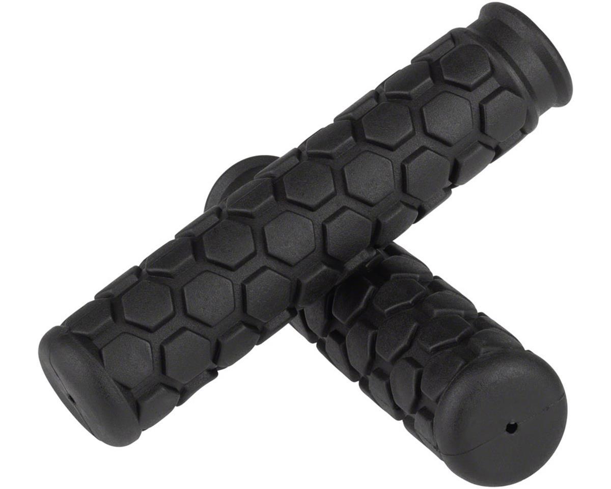 Velo VLG-100 Hex MTB Grips: Black