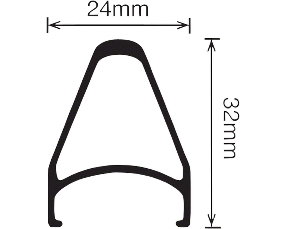 Velocity Chukker Rim, 700c 36h Non-MSW Black