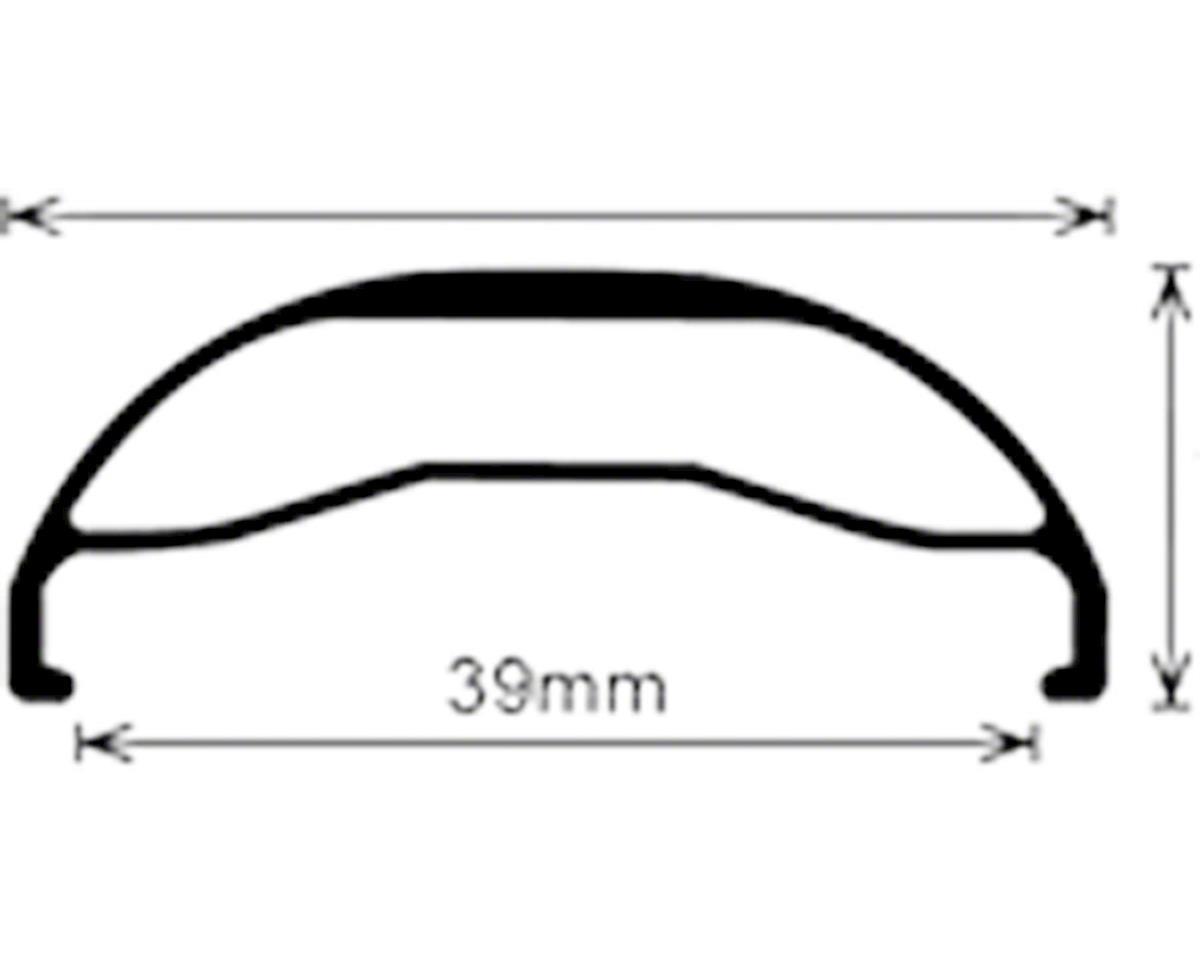 Velocity Dually Rim: 26+ x 45mm 32h, Black