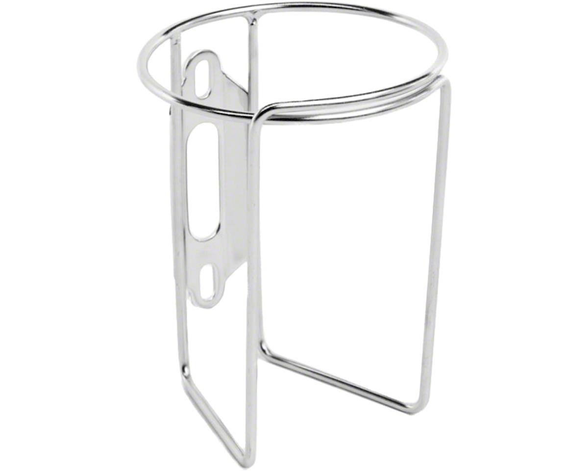 Retro Water Bottle Cage without Tab: Polish Stainless