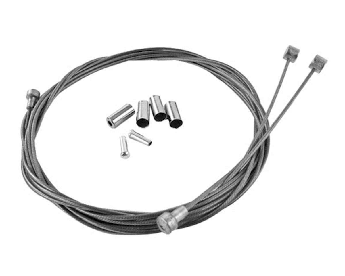 Metallic braid brake cable kit - silver