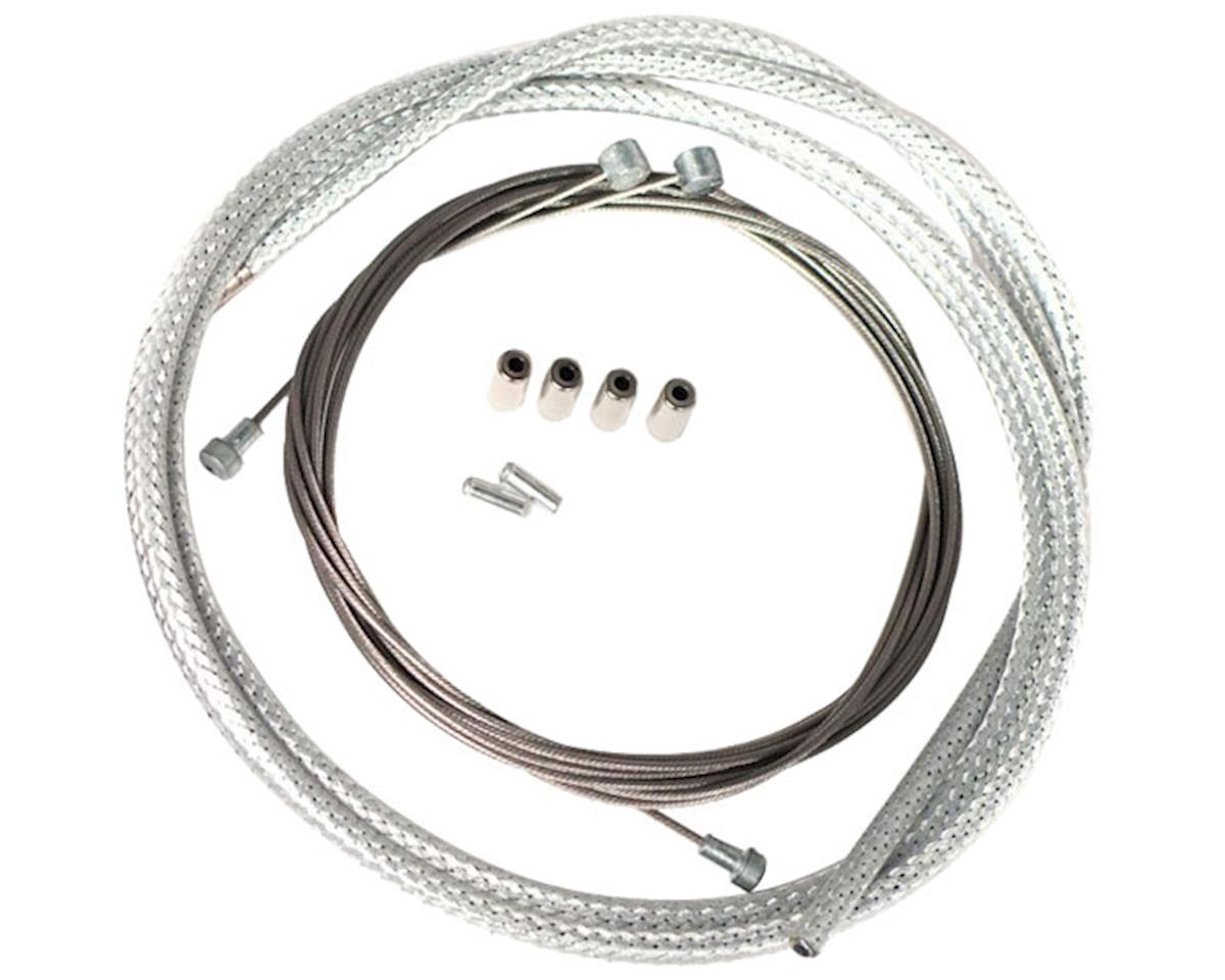 Velo Orange Metallic braid derailleur cable kit - silver