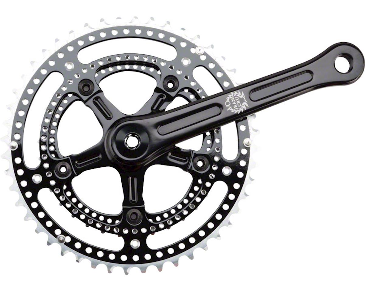 Grand Cru Noir Drillium Crankset: 34/48t, 165, Black