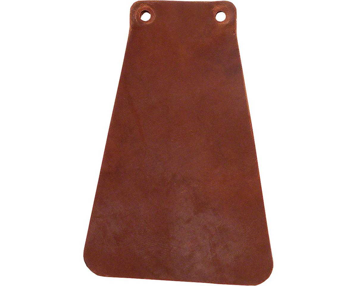Handcut Leather Mud flap for Fender: Brown