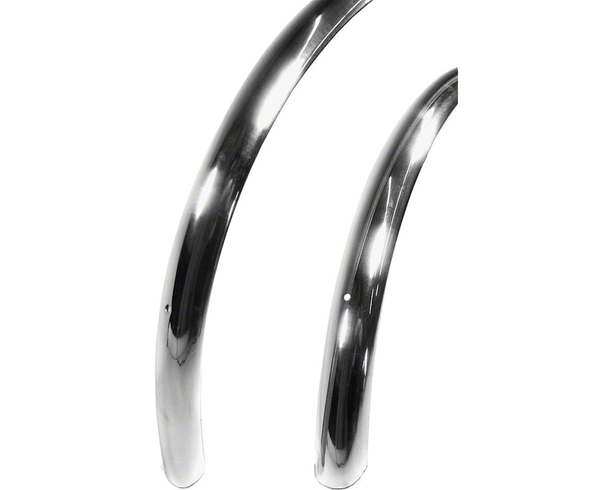 Smooth 700c x 37 Fender Set: Polished Silver (700c x 25-28)