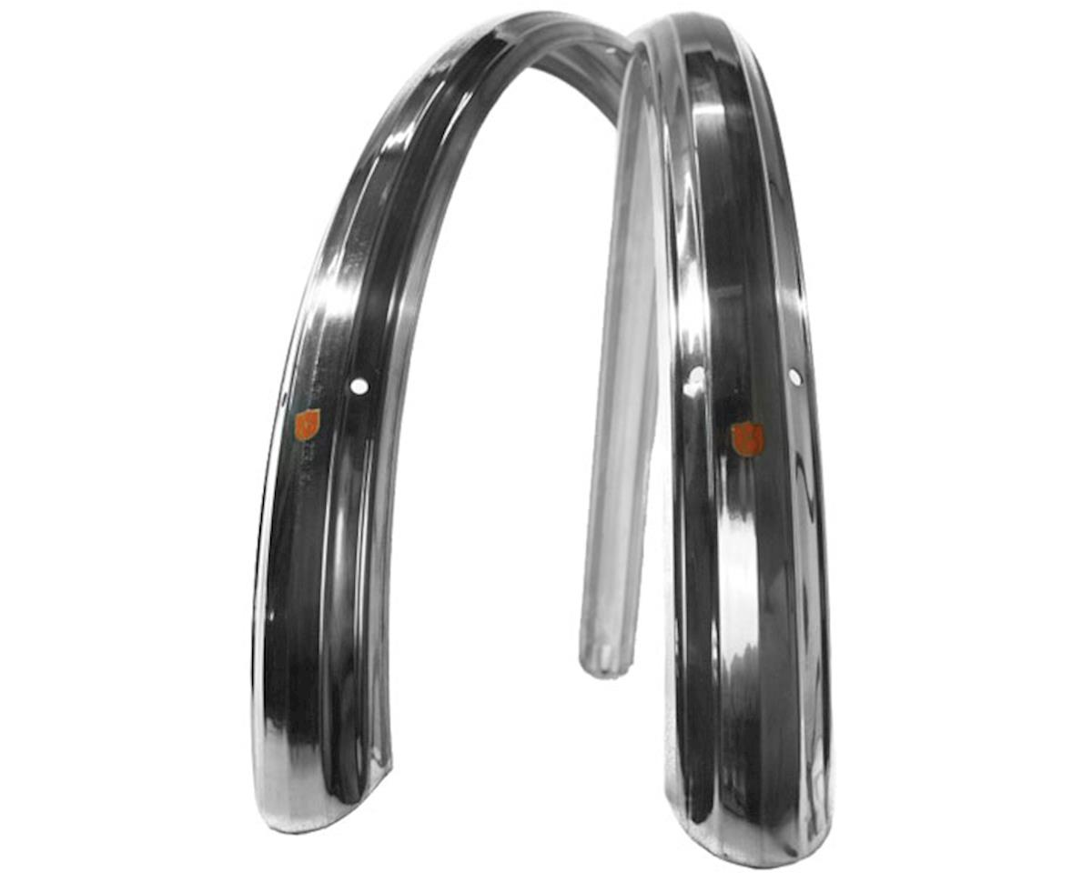 Velo Orange Zeppelin fenders 650b, 52mm - silver