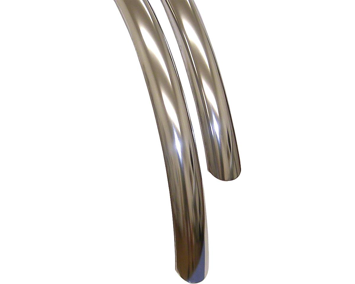 Stainless Steel 700c x 45 Fender Set: Stainless Steel (700c x 25-35)