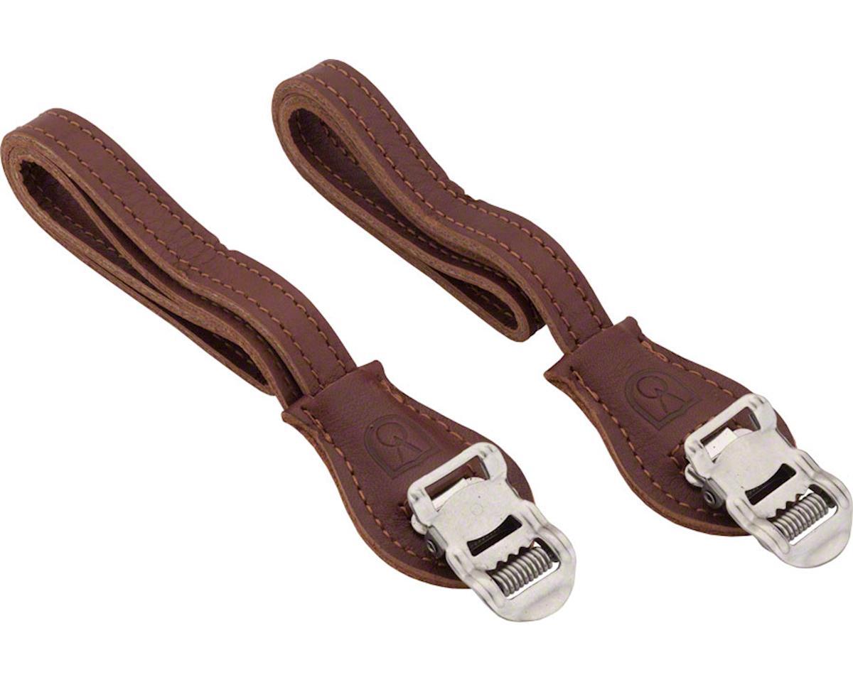 Velo Orange Grand Cru Leather Toe Straps (Brown) | alsopurchased
