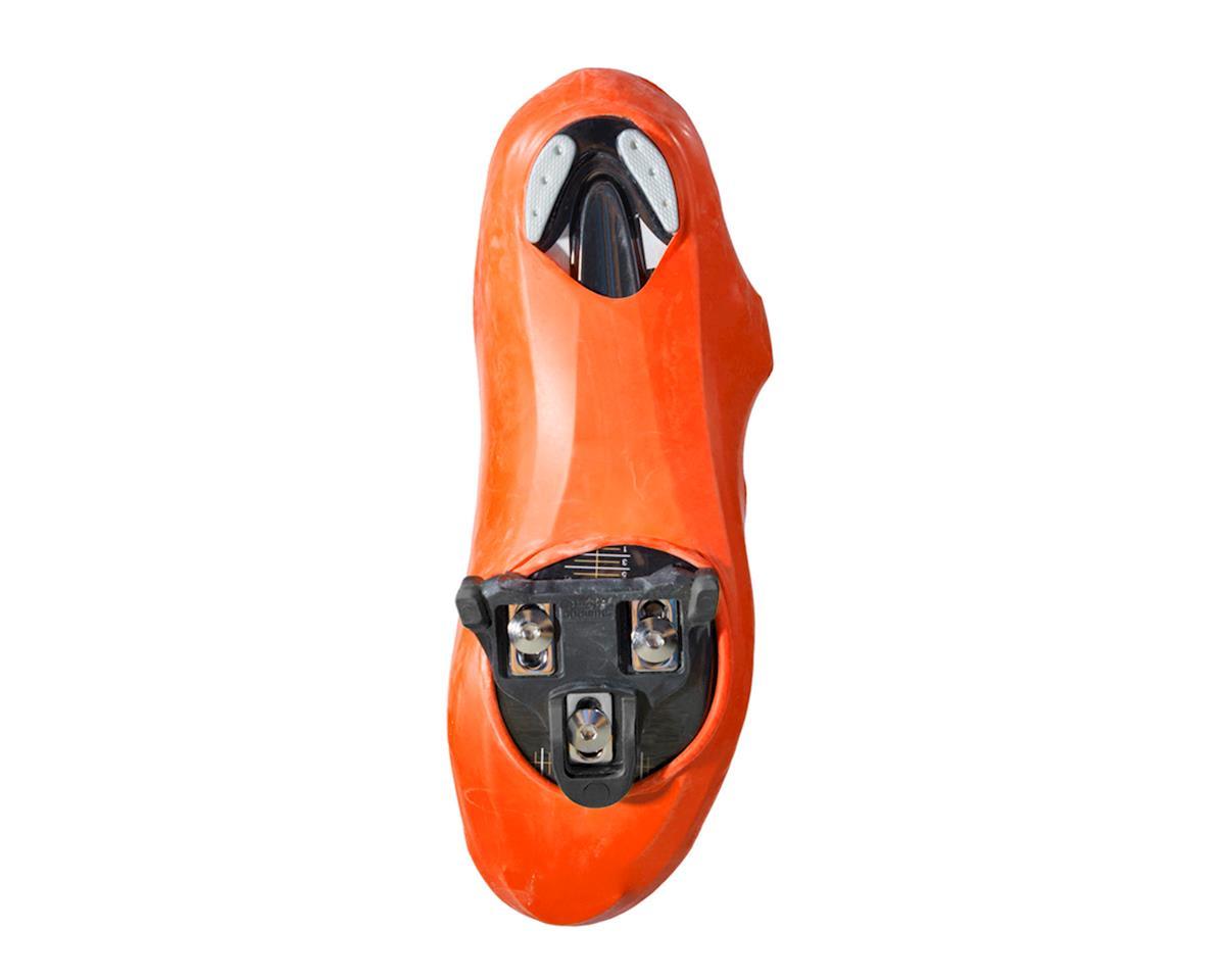 veloToze TALL ROAD SHOE COVERS Waterproof Cycling Booties VIZ-ORANGE T-VOR-007-P