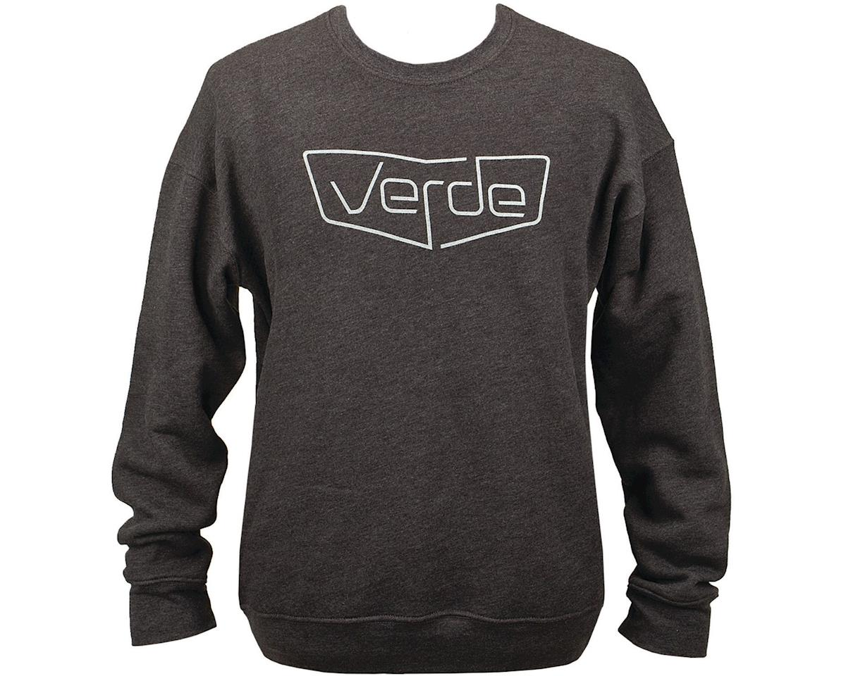 Verde Shield Crew Sweatshirt (Heather Black) (2XL)