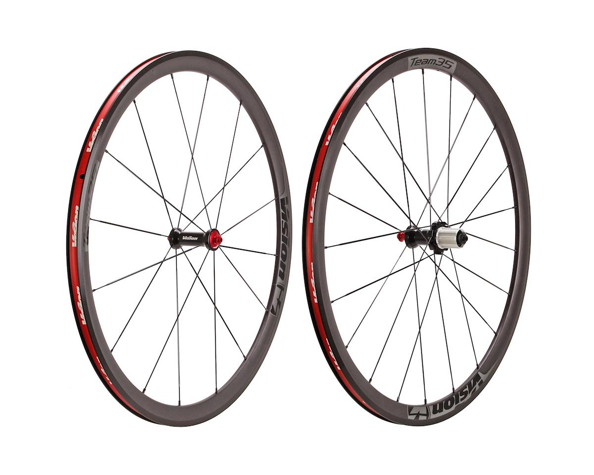 Vision Team 35 wheelset, 700c HG11 F/R - black