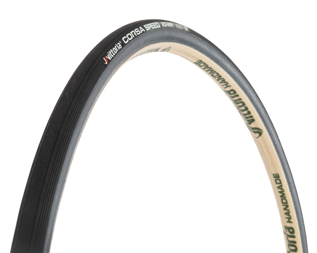 Vittoria Corsa Speed G+ Tubular Tire (700x23) (Black/Grey)