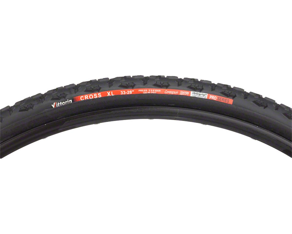 Cross XL Tire: Tubular, 700x33, Black