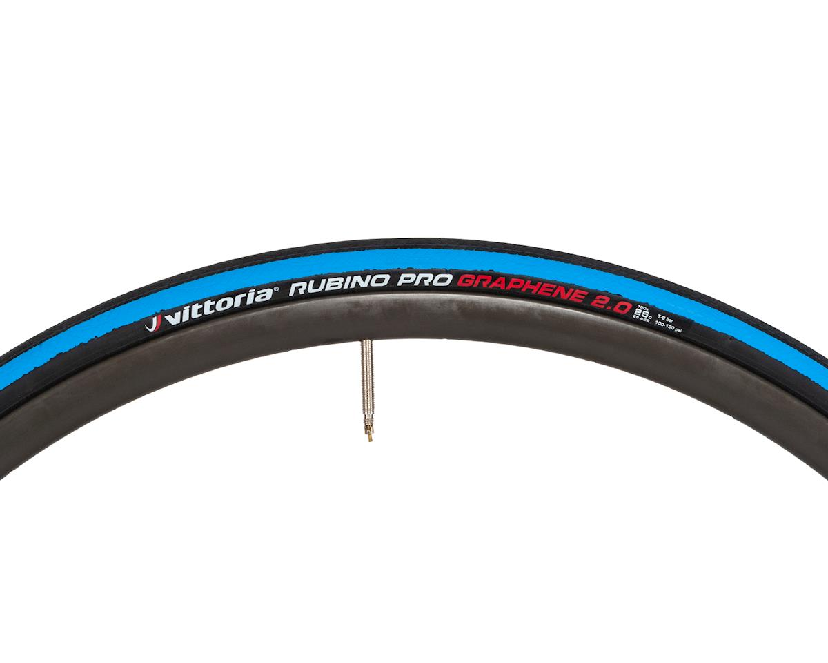 Vittoria Rubino Pro G 2.0  Graphene clincher 700 x 25 white-black   USA BASED