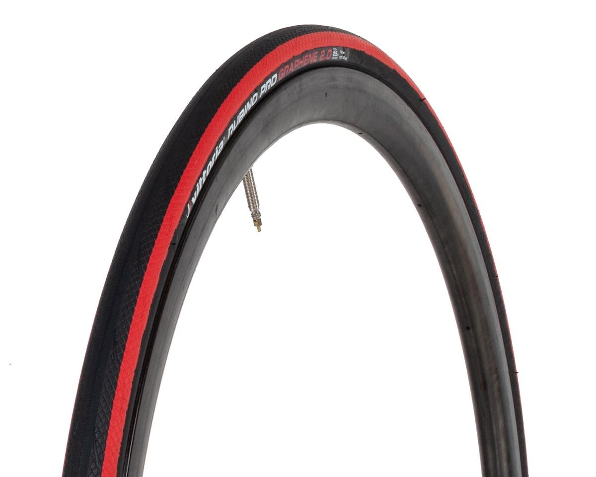 Vittoria Rubino Pro G2.0 Folding Bead Tire (Black/Red) (700 x 25)