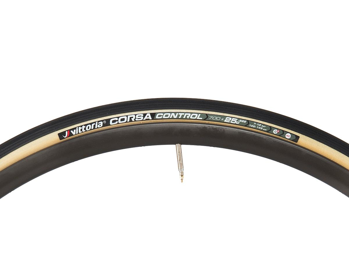 Vittoria Corsa Control G+ Competition Tire (Folding) (Skinwall) (700 x 25)