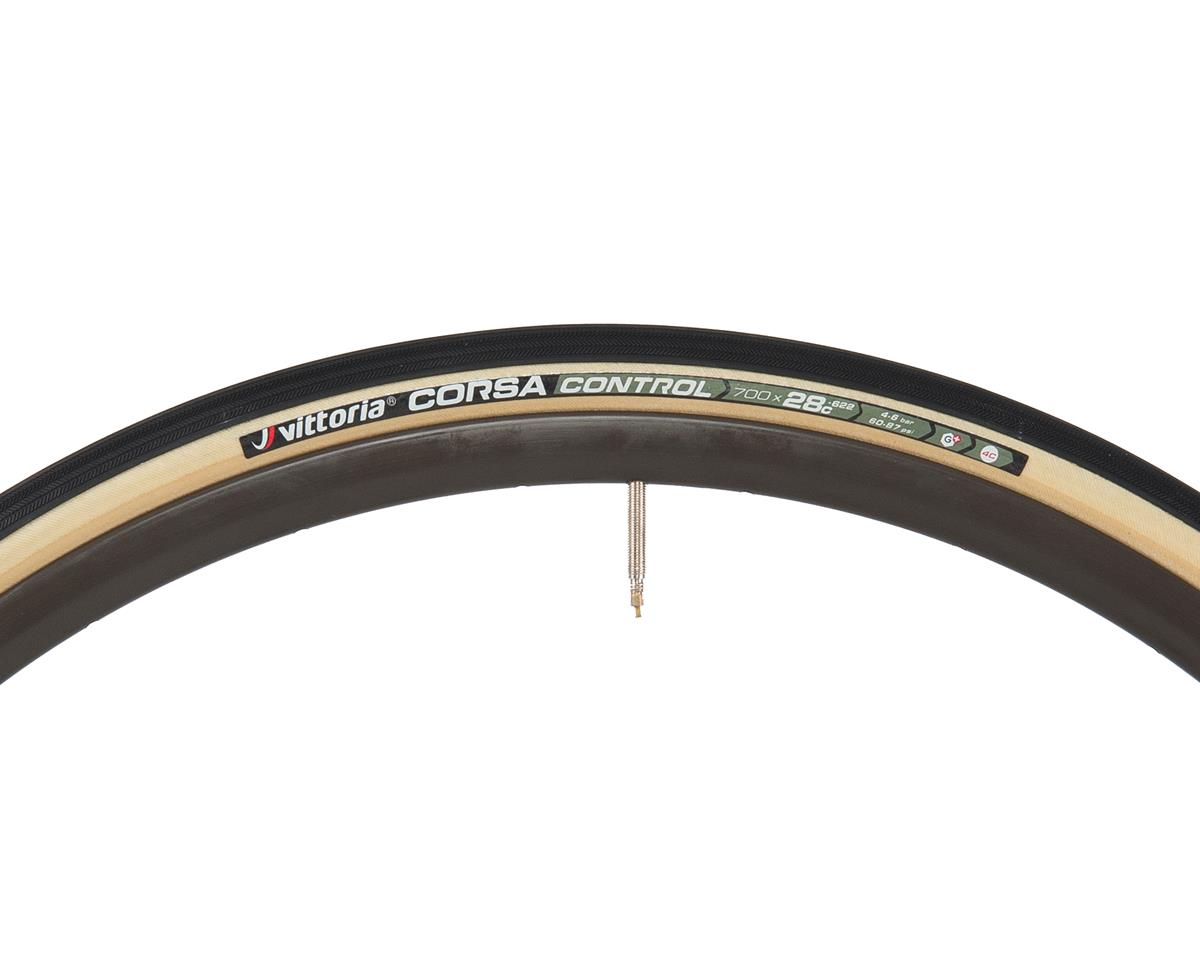 Vittoria Corsa Control G+ Competition Tire (Folding) (Skinwall) (700 x 28)
