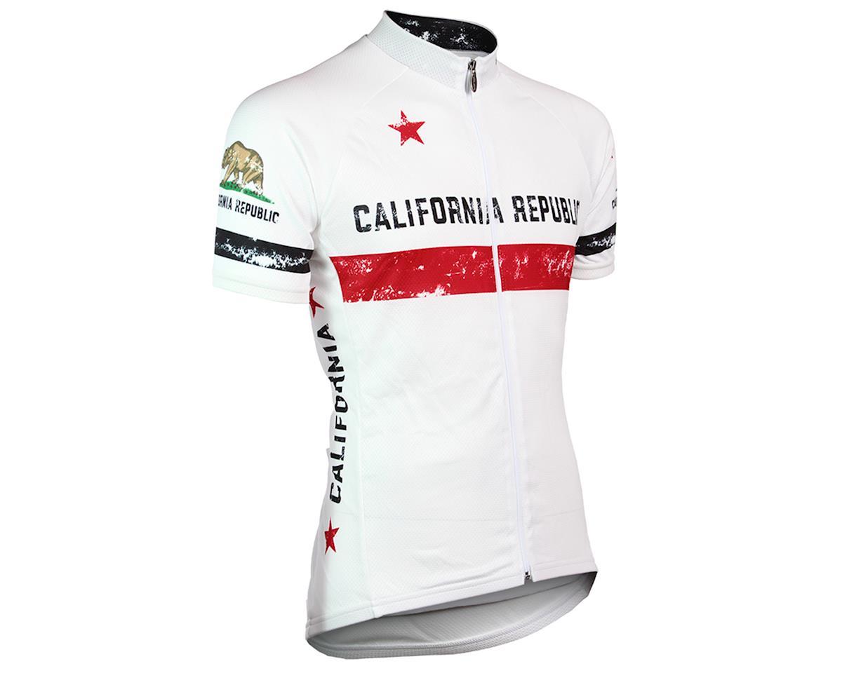 Voler California Vintage Genesis Full Zip Men's Club Jersey (White) (S)