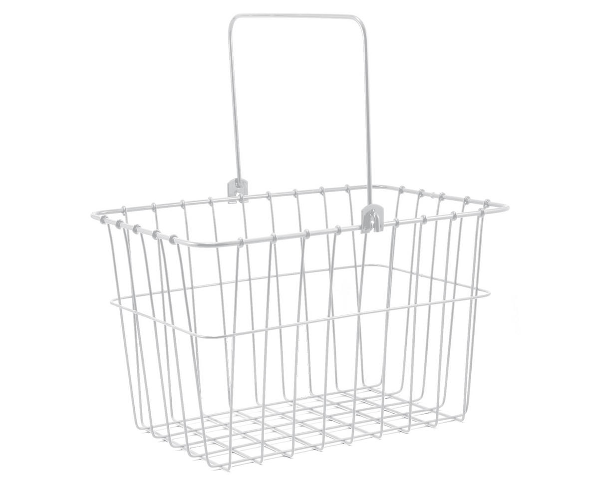 133 Standard QR Front Bike Basket (White)