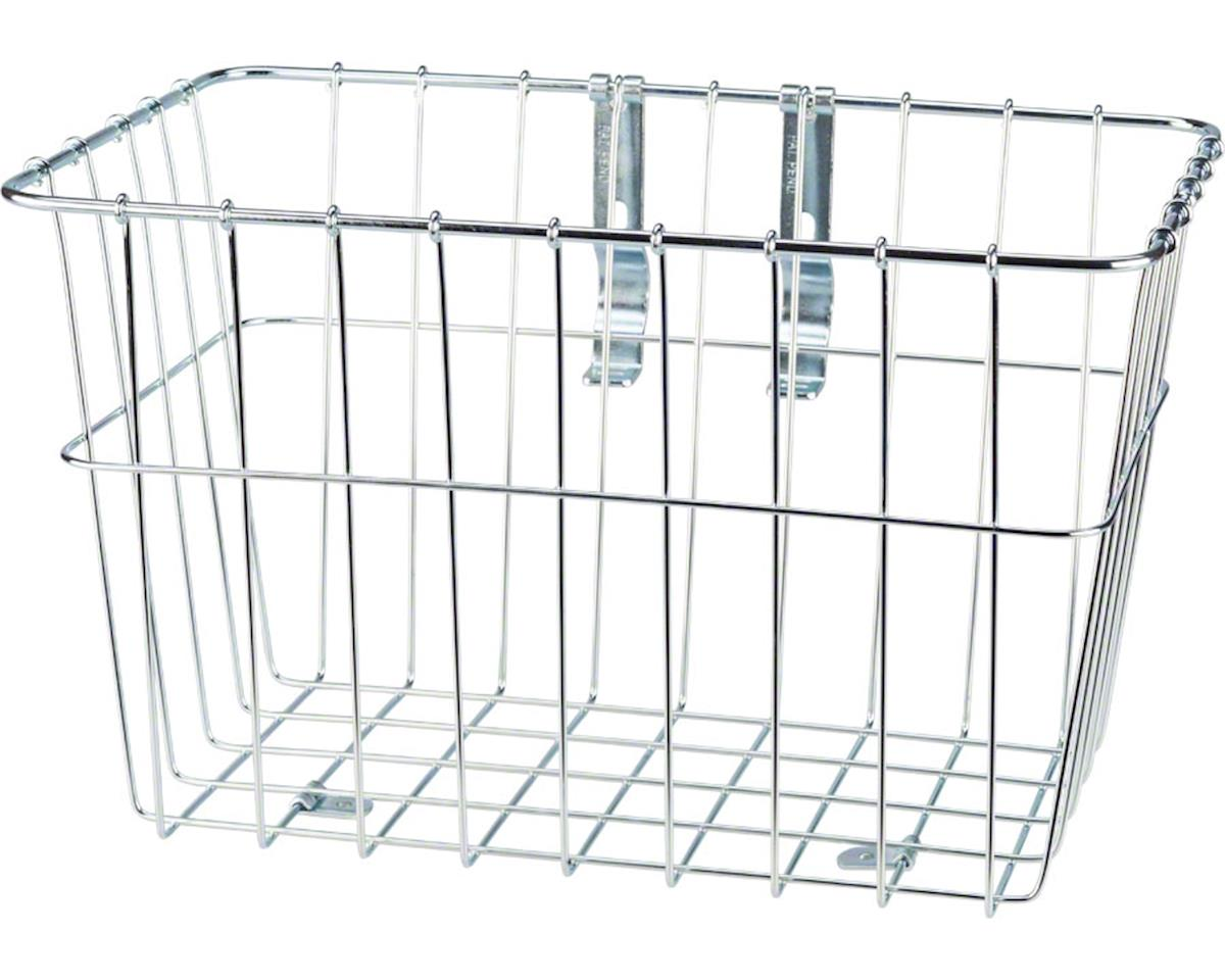1352 Front Grocery Basket with Adjustable Legs Silver