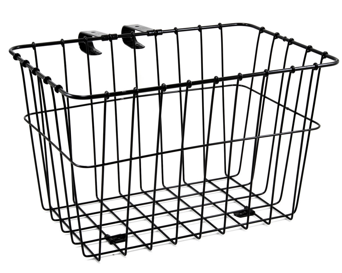 135 Bolt-On Front Bike Grocery Basket (Black)
