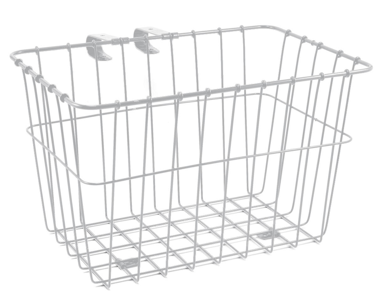 135 Bolt-On Front Bike Grocery Basket (White)