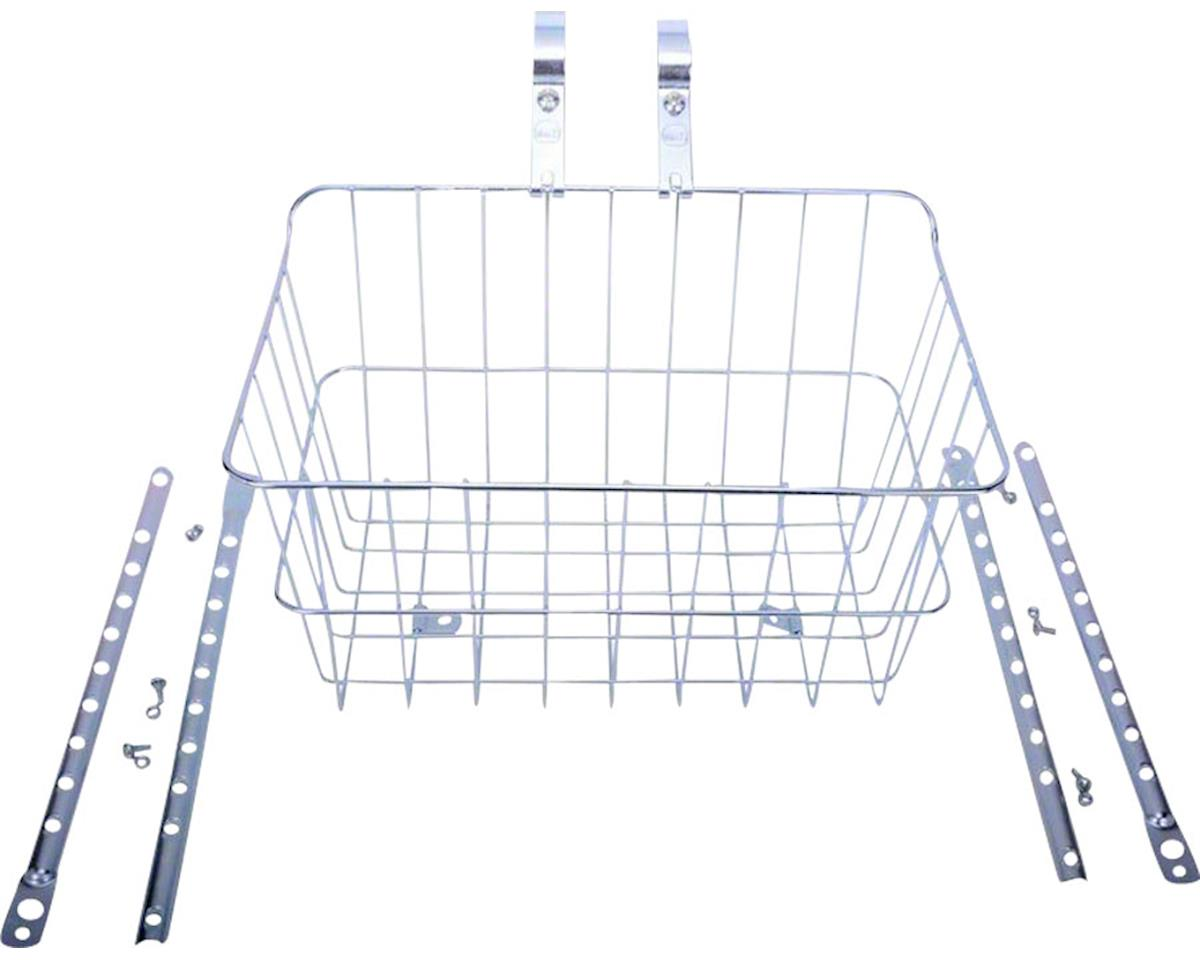 1512 Front Basket with Adjustable Legs, Silver