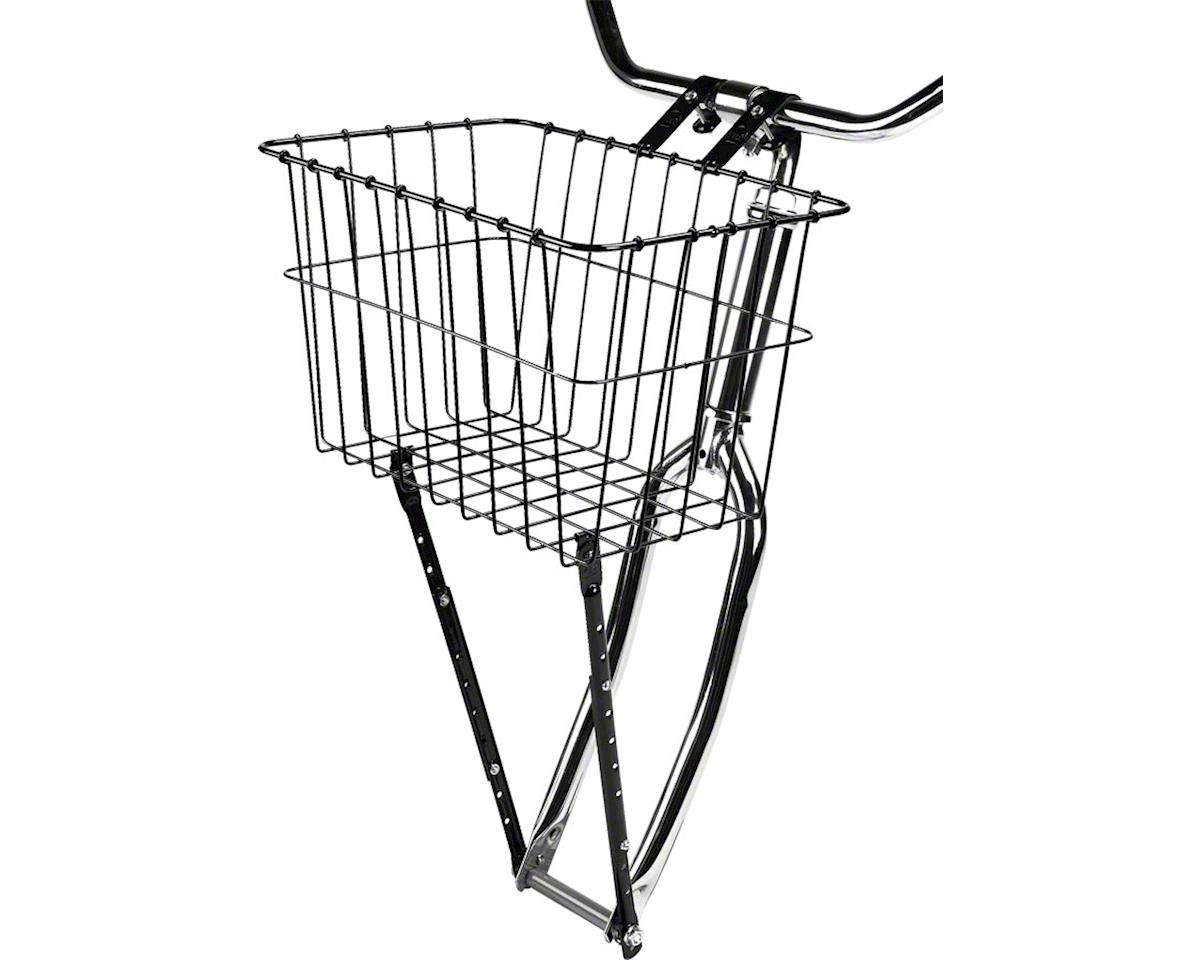 198 Front Basket with Adjustable Leg: Gloss Black