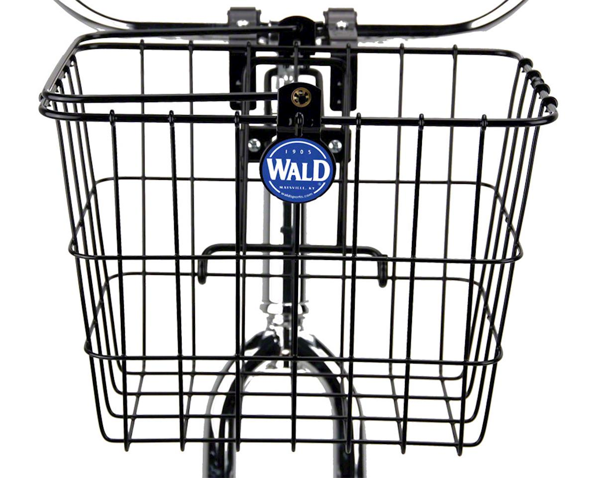 Wald 3114 Front Quick Release Basket with Bolt-On Mount: Gloss Black