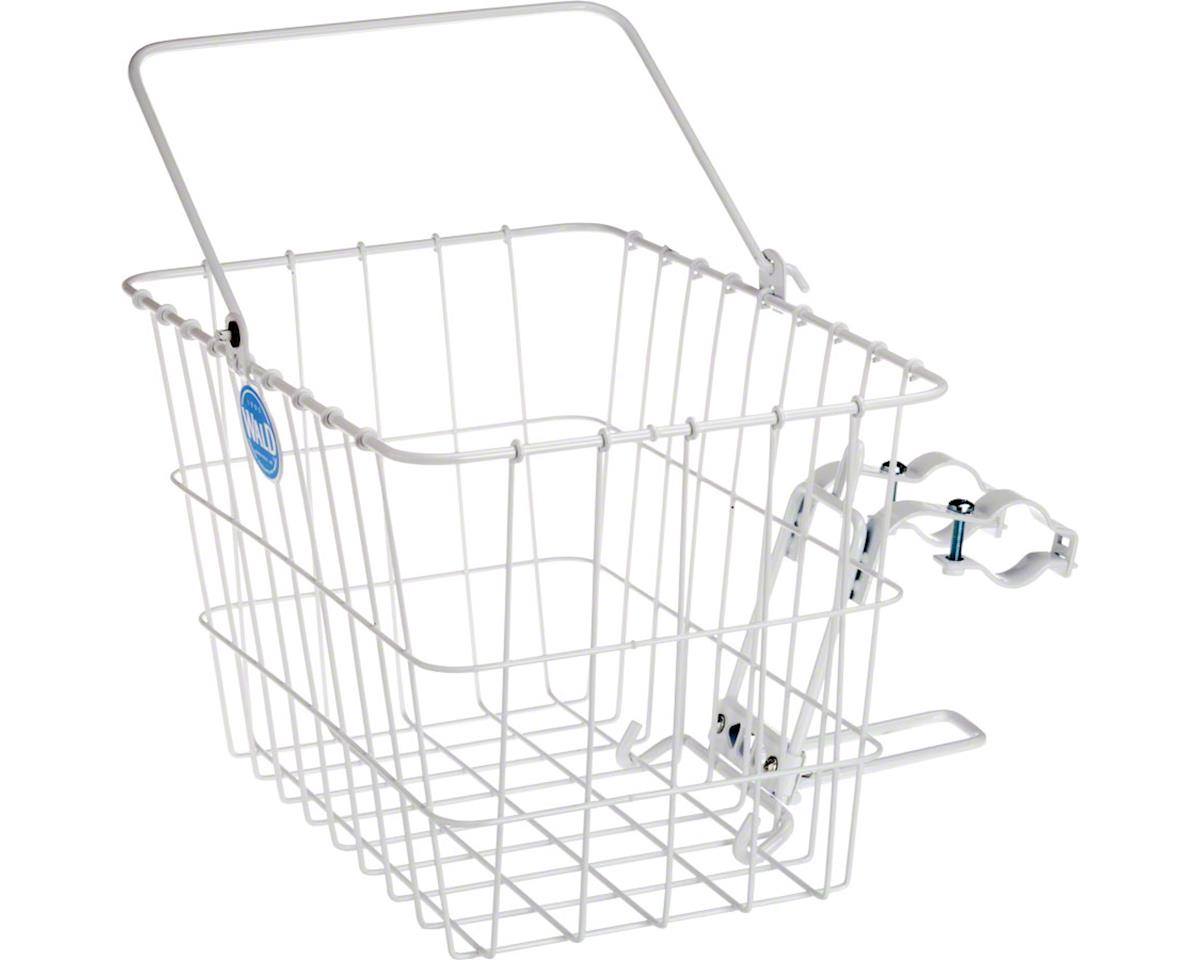 3114 Front Quick Release Basket with Bolt-On Mount: White