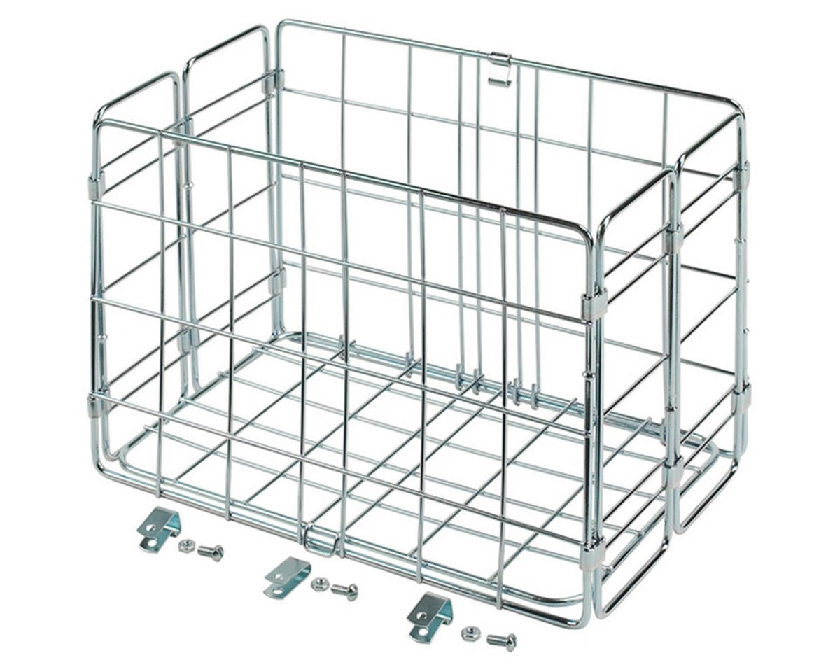 Side-Mount Folding Rear Basket (12.75x7.25x8.5) (Chrome)