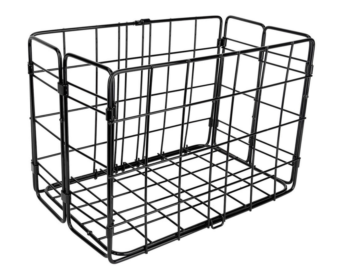 Side-Mount Folding Rear Basket (12.75x7.25x8.5) (Black)