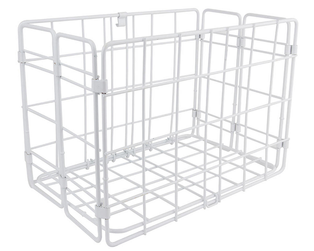 Wald Side-Mount Folding Rear Basket (12.75x7.25x8.5) (White)
