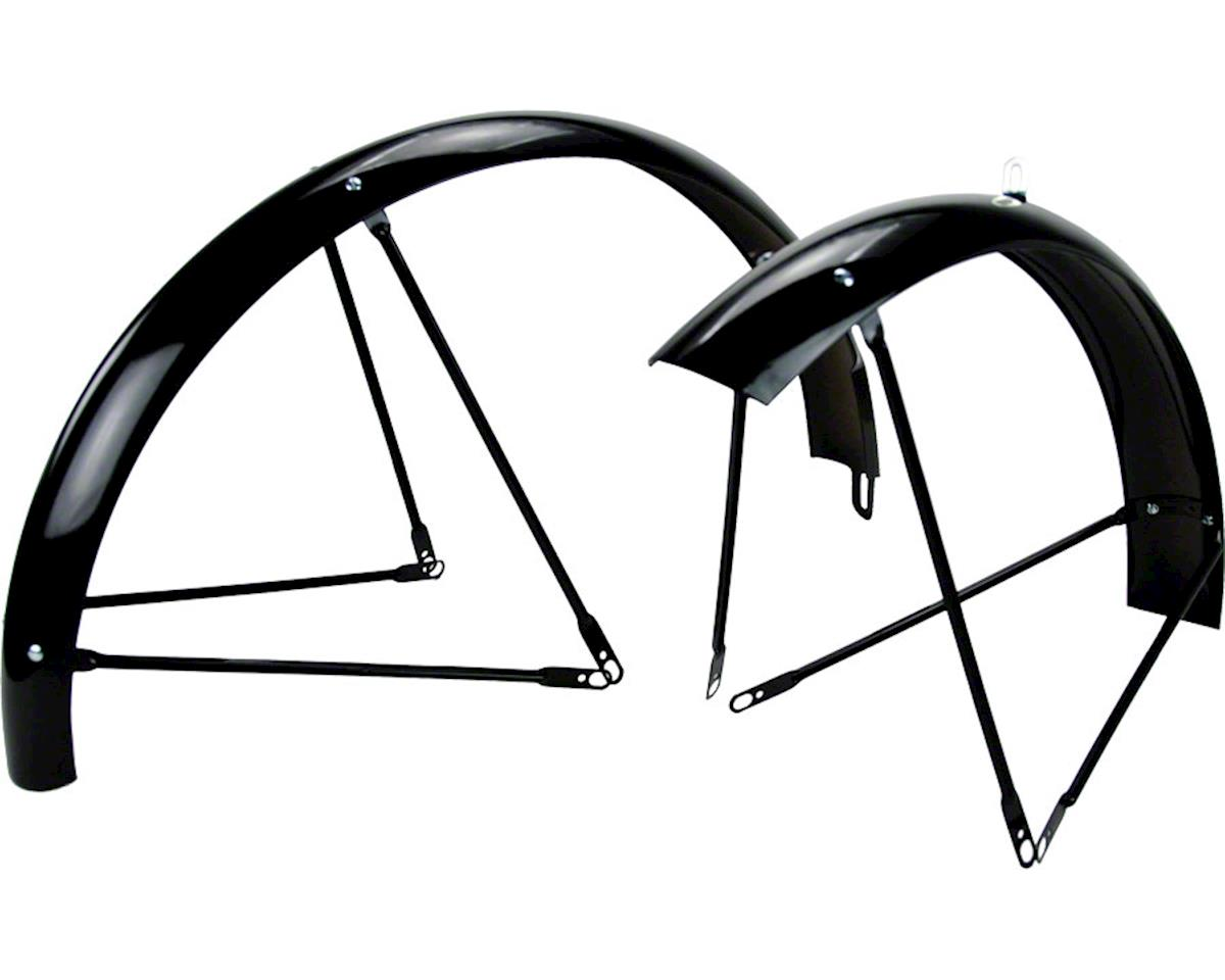 Balloon 962 Fender Set: 26x2.0 - 2.125 Wheel, Gloss Black