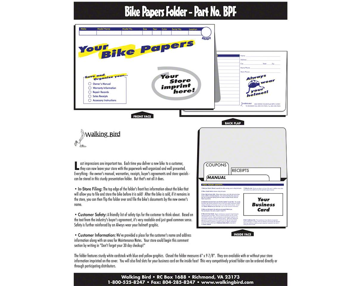 Bike Papers Folder: Pack of 250