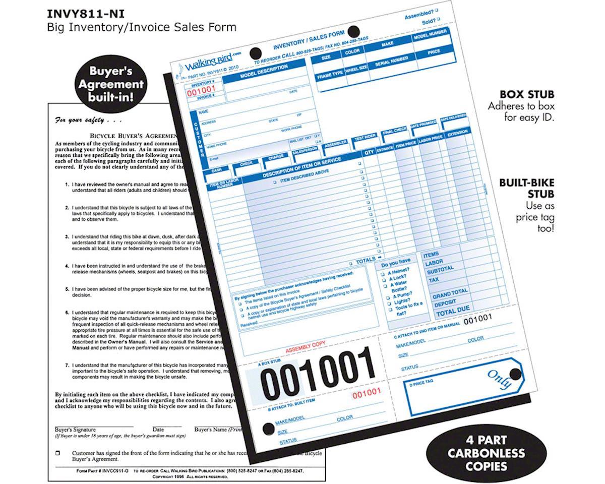 Walking Bird Big Inventory/Sales Form: Pack of 250