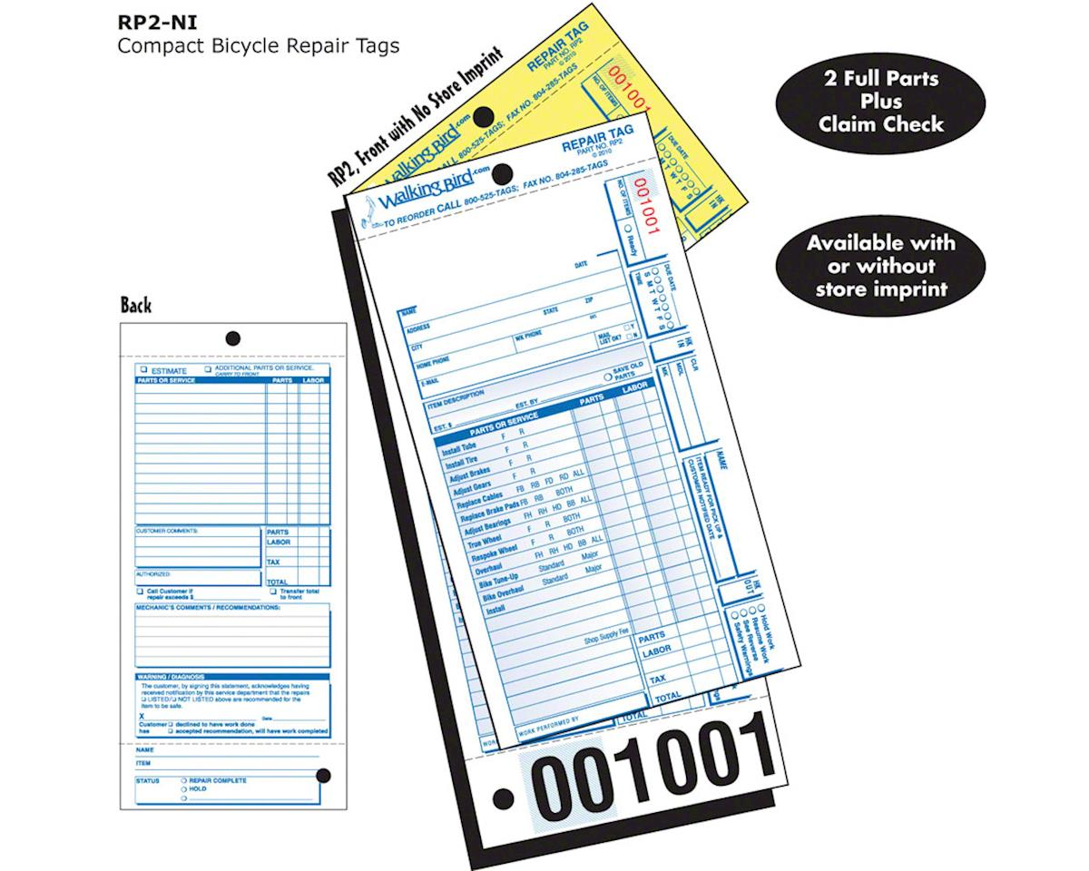 Pre-Listed Repair Form with partial claim check: Pack of 250
