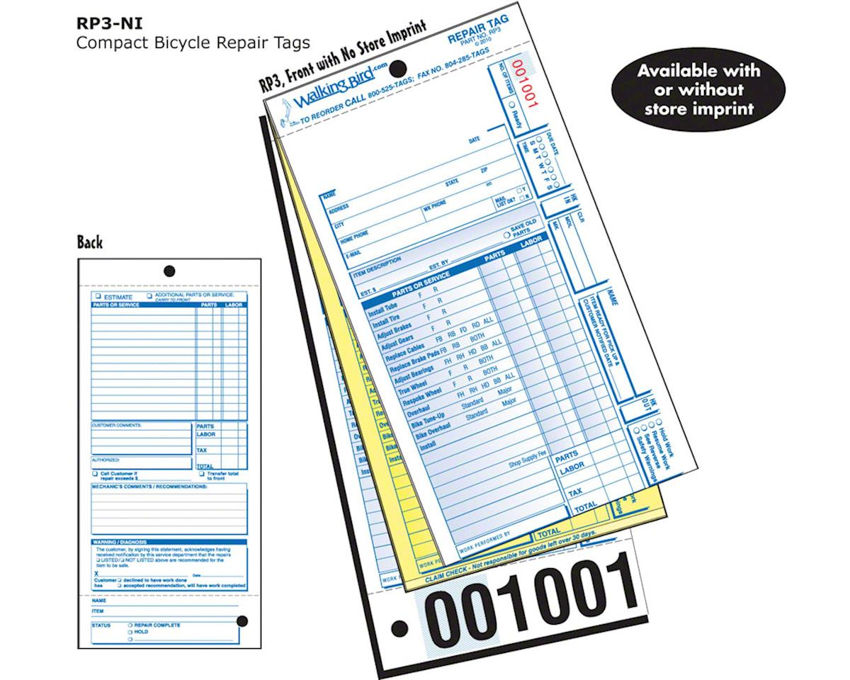 Pre-Listed Repair Form, full claim: Pack of 250