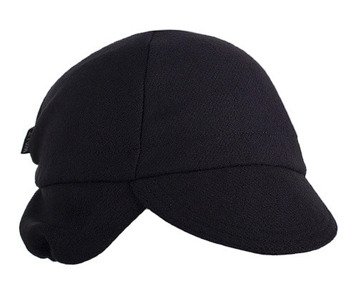 Walz Caps Wool Ear Flap Cycling Cap (Black) (S/M)