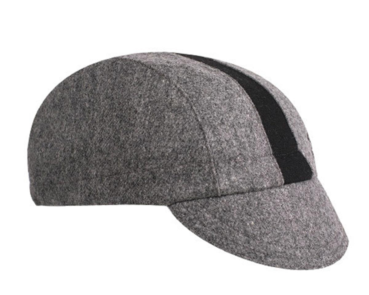 Walz Caps Wool 3-panel Cycling Cap (Gray/Black Racing Stripe) (L/XL)