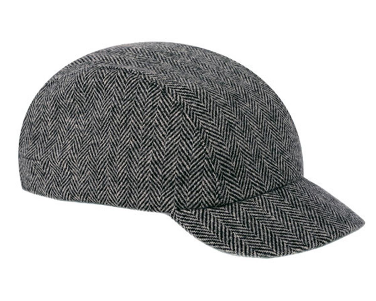 Walz Caps Wool Urban Collection Cycling Cap (Black Herringbone) (L/XL)