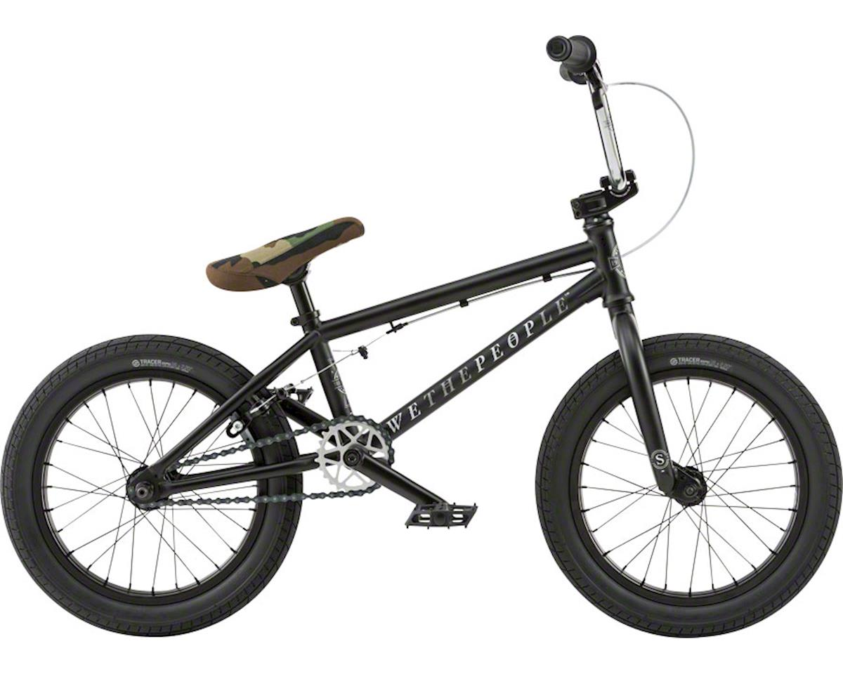 """We The People Seed 16"""" 2018 Complete BMX Bike 16"""" Top Tube Matte Black"""
