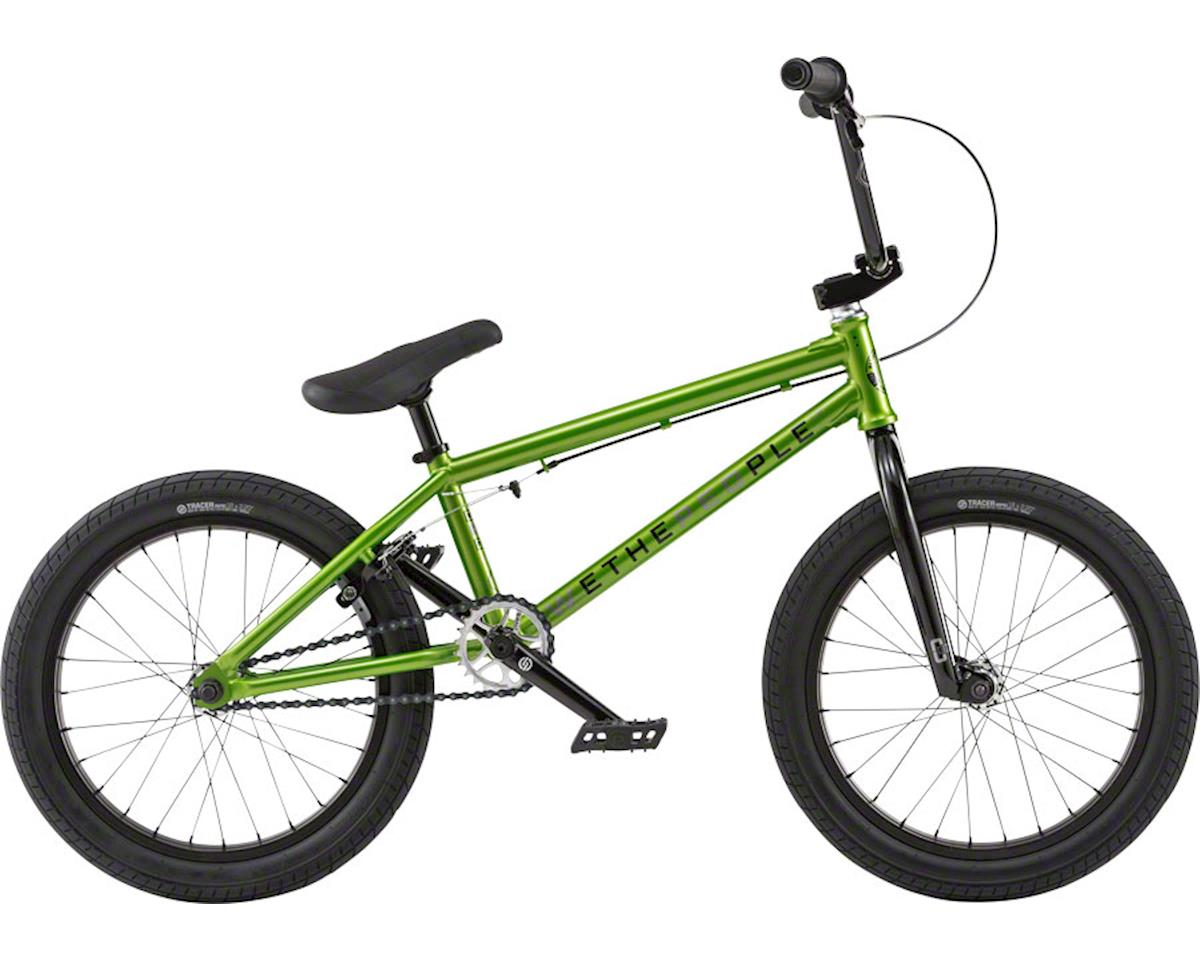 "We The People CRS 18"" 2018 Complete BMX Bike 18"" Top Tube Metallic Green"